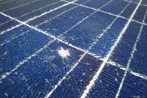 solar panel cracked